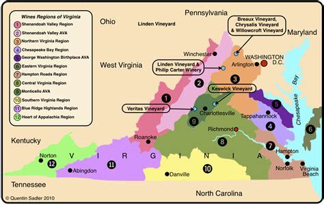 wine map virginia a land of history wine quentin sadler s