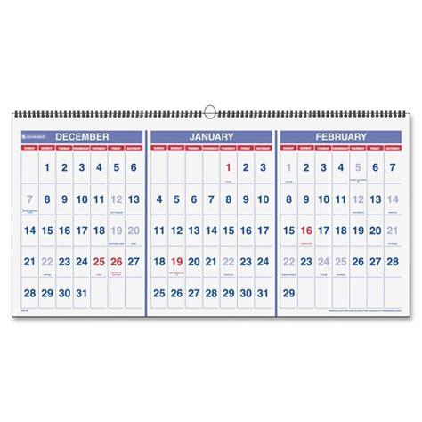 3 Month Wall Calendar Printer