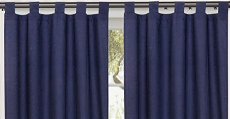 navy tab top curtains utopia bedding tab top curtain 30 quot w x 63 quot l semi