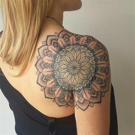 tattoo shoulder dotwork back of shoulder mandala dotwork tattoo by niall shannon