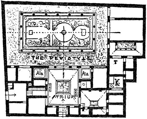 house of the vettii floor plan ten books on architecture by vitruvius