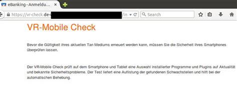 mobile vr bank phishing mail vr mobile check vr bank werdenfels eg