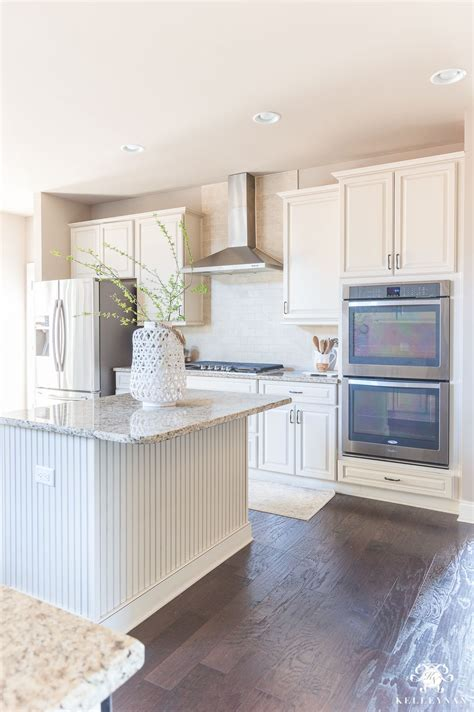 Kitchen Cupboard Paint Colours - neutral kitchen with greige paint and