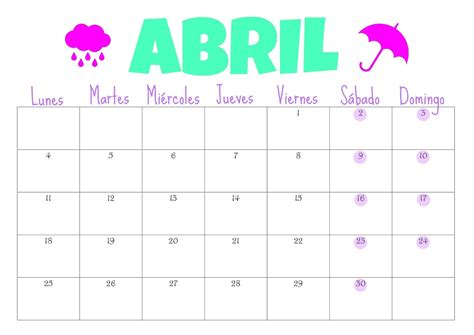 calendario progresar mes abril 2016 organiza t marzo 2016