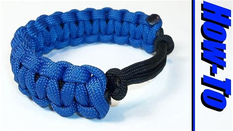 how to make paracord jewelry adjustable paracord bracelet