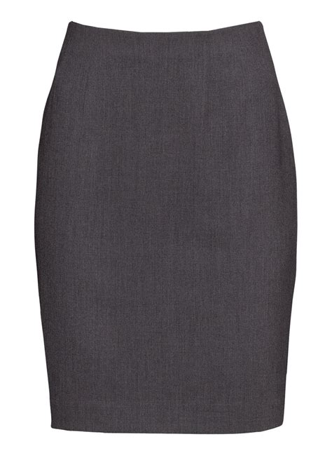 plus size classic gray polyester wrinkle free pencil