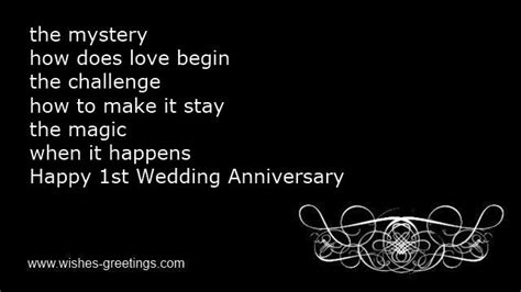 1st wedding anniversary wishes for and in quotes wedding anniversary poems husband 1 year marriage quotes