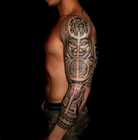 tribal sleeve tattoo for men 32 amazing tribal sleeve tattoos