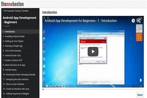 android tutorial new boston 5 best free websites to learn android app development