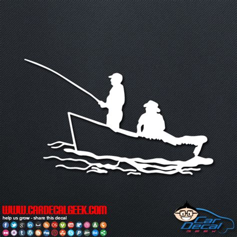 fishing decals for boat fishing in a boat car window decal sticker fishing decals