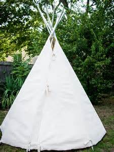 build a canvas teepee diy no sew teepee hgtv