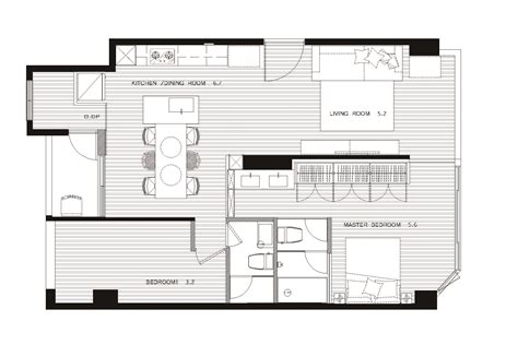 house plan with apartment 18 apartment floorplan interior design ideas