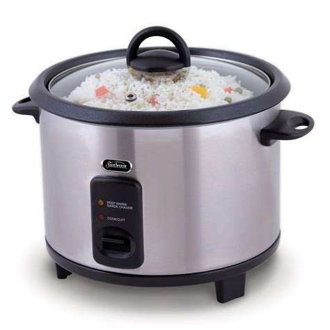 Rice Cooker Solid sunbeam 20 cup rice cooker lowe s canada