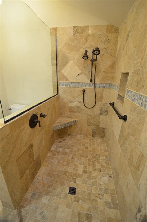 Tile Shower Without Door Images About Doorless Showers Walk In Shower Also Designs Without Doors Savwi