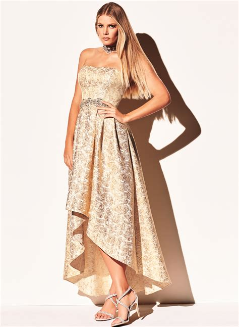 Dress Sisilia Hs 1173 high low beaded brocade gown free shipping melanie lyne