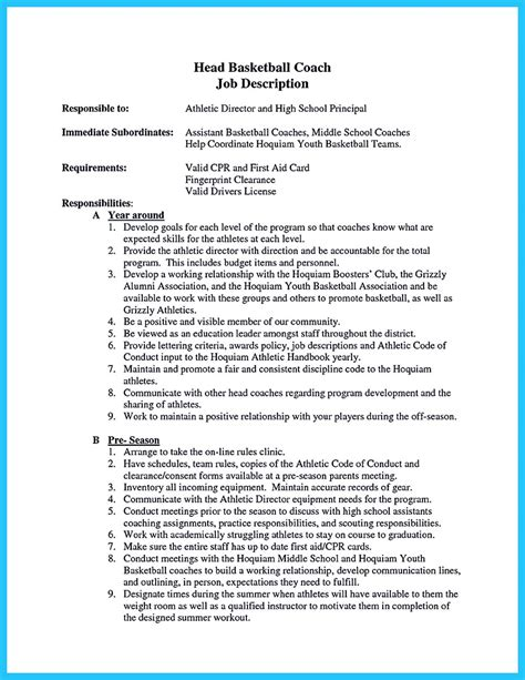 Sle Assistant Cheer Coach Resume Perfect Resume Format Football Coaching Portfolio Template