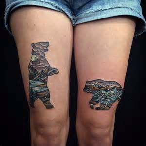bear silhouette tattoo 25 best tiny images on
