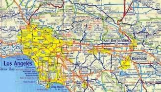 maps southern california road map