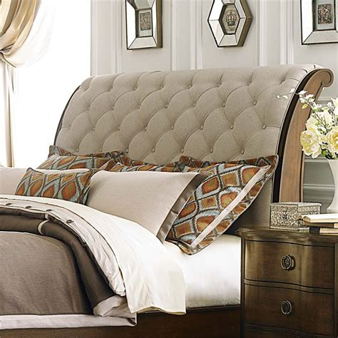 sleigh bed headboard only liberty furniture cotswold upholstered king sleigh