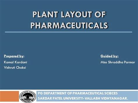 plant layout powerpoint presentation plant layout of pharmaceuticals authorstream