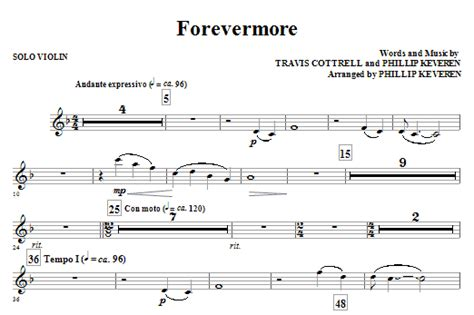 theme song in forevermore forevermore solo violin sheet music direct
