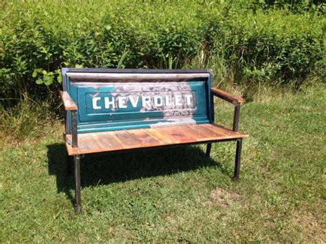 bench made from truck tailgate pin by liz clark on chevy pinterest