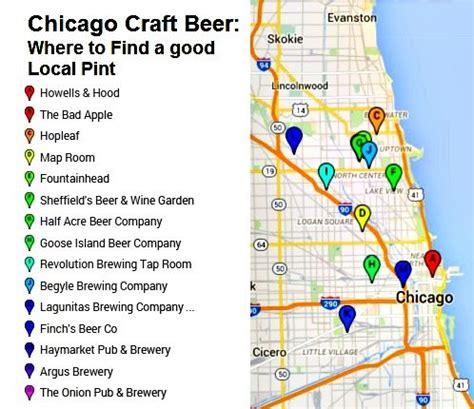 where to find chicago craft where to find a local pint