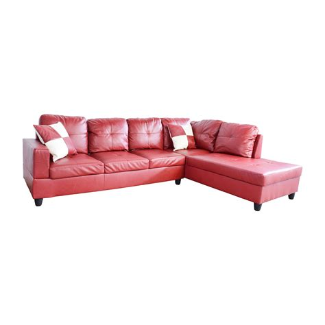 red sectional 76 off beverly furniture beverly furniture red faux