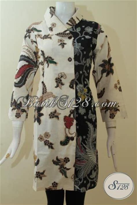 Dress Anak Cewek Hitam Dan Putih batik jawa pakaian cewek kombinasi dua motif til keren