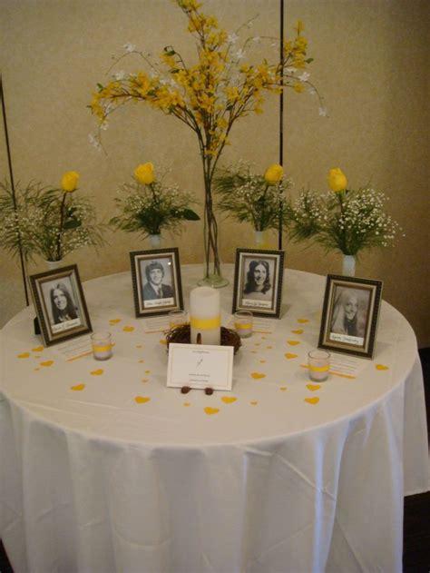 memorial memorial ideas best 25 reunion centerpieces ideas on class