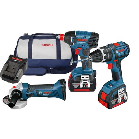 bosch 18v kits bosch blue 18v 2 x 4 0ah cordless combo kit bunnings