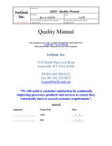 quality manual template best photos of quality manual template employee code of