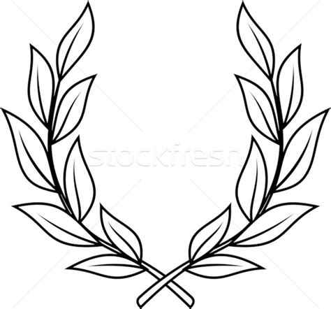 laurel leaf template laurel wreath vector illustration 169 mr vector 533703