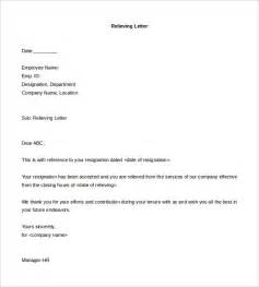Resignation Acceptance Relieving Letter Format Formal Letter Template 30 Free Word Pdf Documents Free Premium Templates