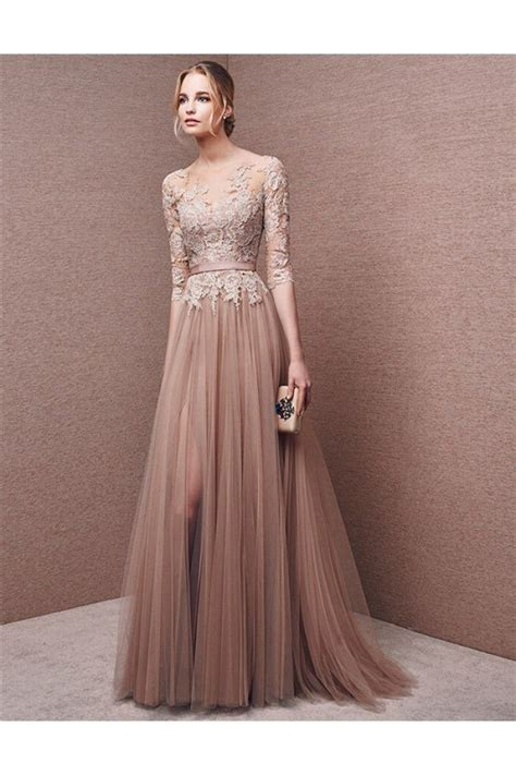 Sleeve Lace Evening Gown best 25 evening dresses with sleeves ideas on