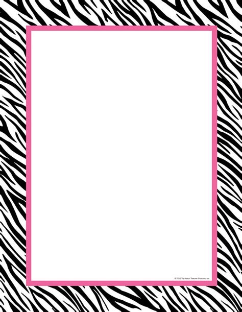 printable zebra paper free print paper with zebra print boarder clipart best