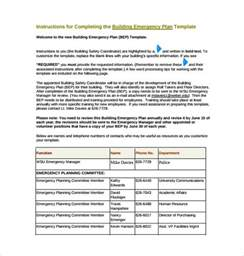 Business Emergency Plan Template by 13 Emergency Plan Templates Free Sle Exle