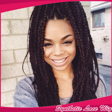 micro braided wigs for black women synthetic box micro braid lace wig hair braided lace front