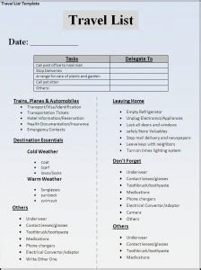 template packing checklist template vacation family list maker for