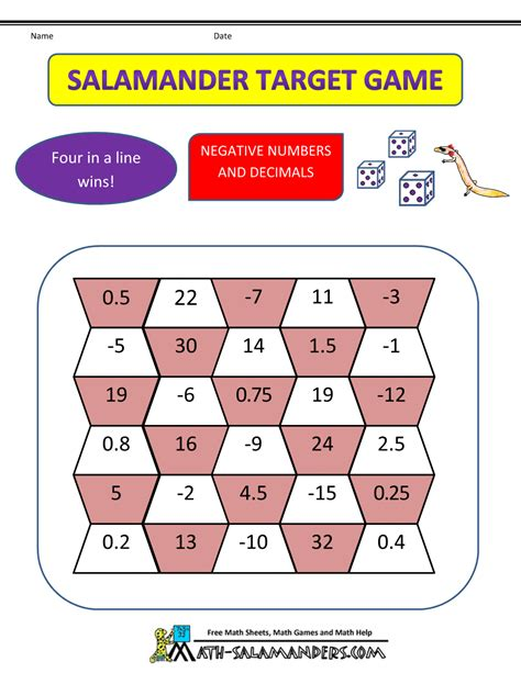 printable math board games for 6th grade fun math games for 6th graders printable 6th grade math