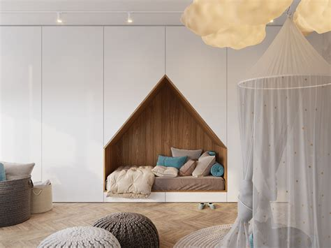 Bed Built Into Floor by This Bedroom Design For A Features A Bed Built