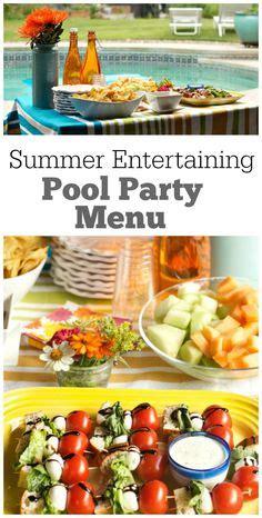 winter dinner menu dinner themed dinner - Summer Entertaining Menu