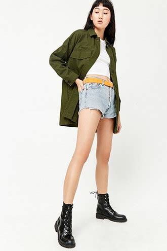 Jaket Bomber Crop Lotto women s coats jackets denim bomber jackets forever 21