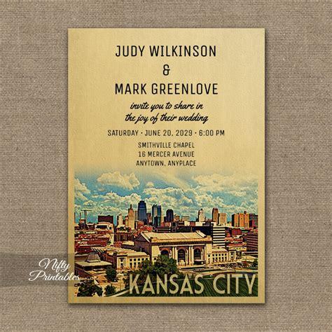 Wedding Invitations Kansas City by Kansas City Missouri Wedding Invitation Printed Nifty