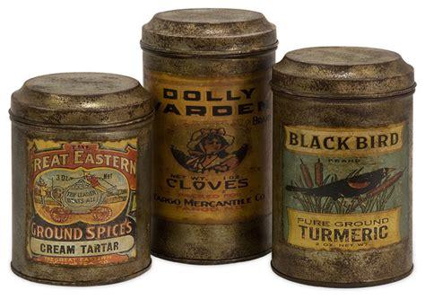 farmhouse kitchen canisters vintage metal kitchen canisters vintage addie 3 piece vintage metal canister set bronze