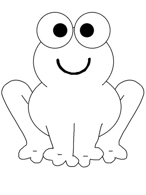 Coloring Book Page Template | simple animal coloring pages frogs 19 animals coloring