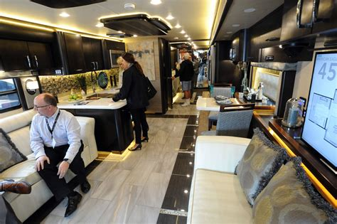 sleek new motor coaches on display at ta rv show tbo