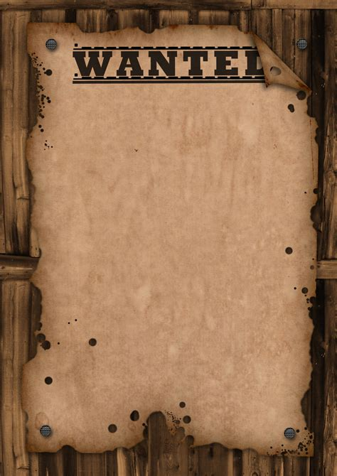 Western Wanted Poster Template Wanted Template By Maxemilliam On Deviantart