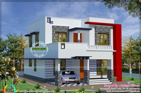 Low Budget House Plans In Kerala 1690 Sq Ft Low Budget Modern Home Kerala Home Design And Floor Plans