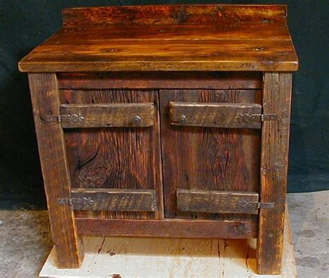 Barnwood Desks by Custom Made Reclaimed Barnwood Bathroom Vanity